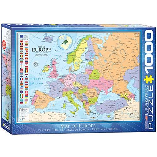 Eurographics 1000 Teile - Karte von Europa