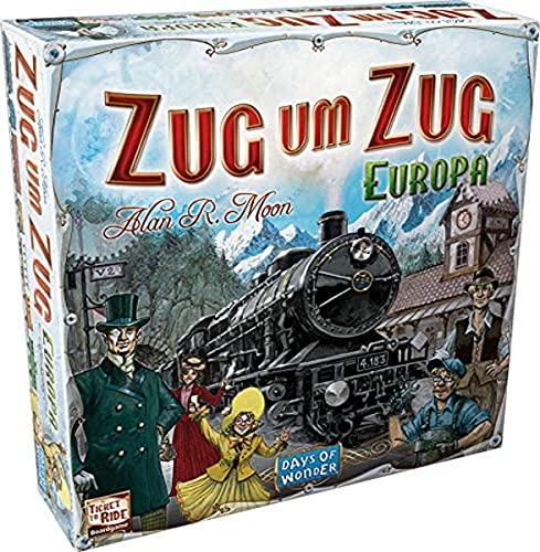 Asmodee Zug um Zug: Europa, Grundspiel, Familienspiel,...