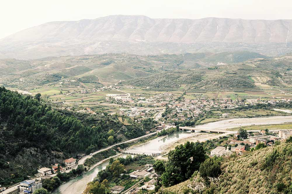 Landschaft um Berat herum
