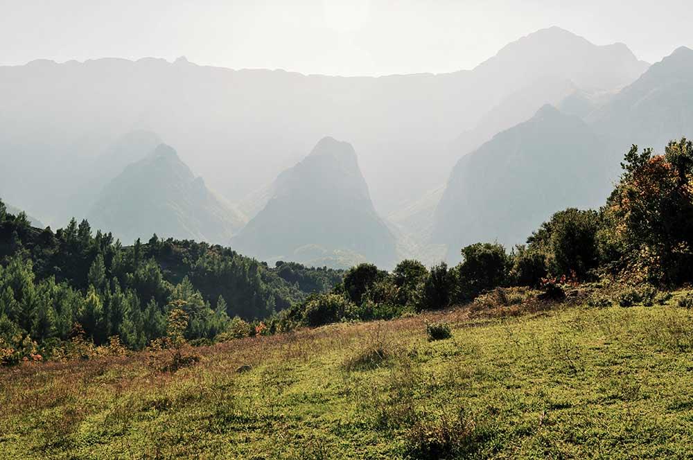 Berge im Umland von Gjirokastra