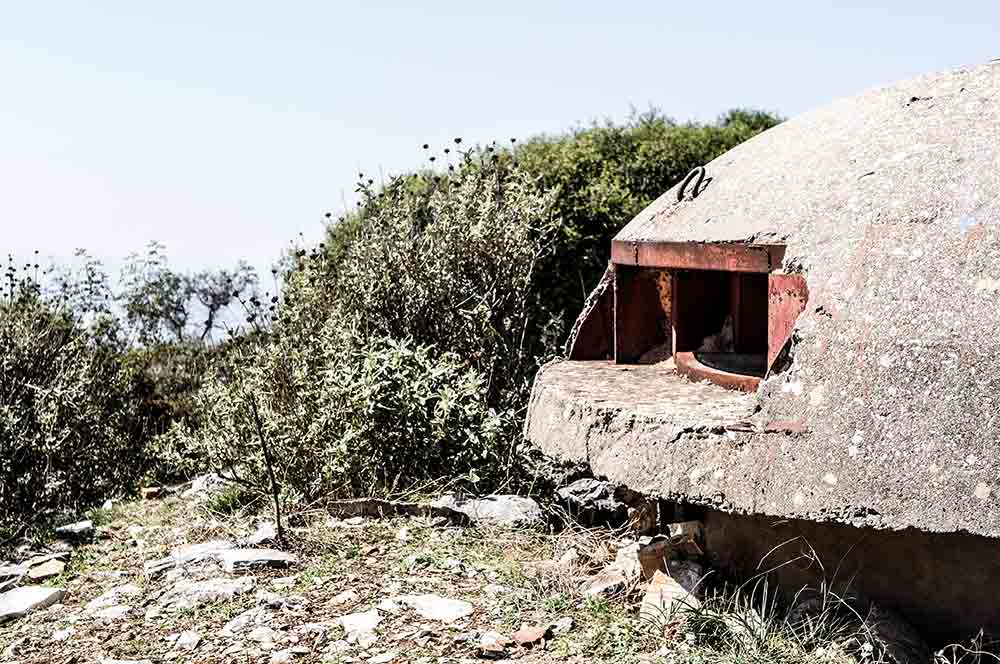 Bunker an der Albanischen Riviera