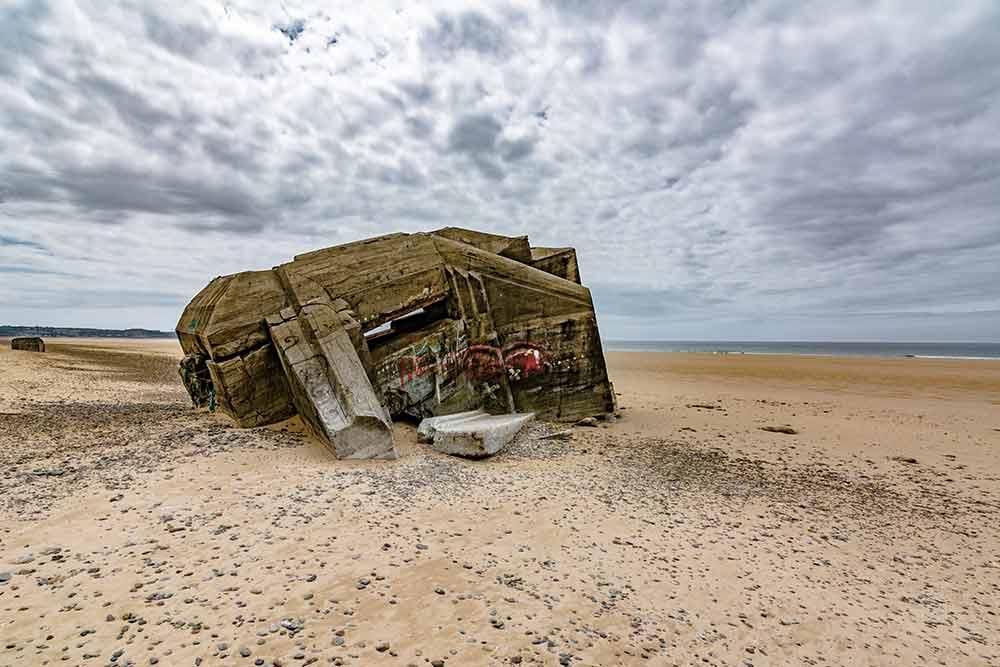 Bunker auf der Cotentin-Halbinsel
