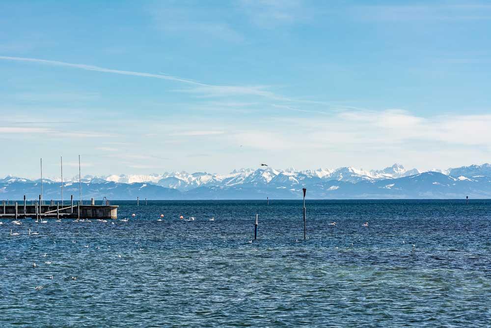 Klare Sicht auf die Bodensee-Berge