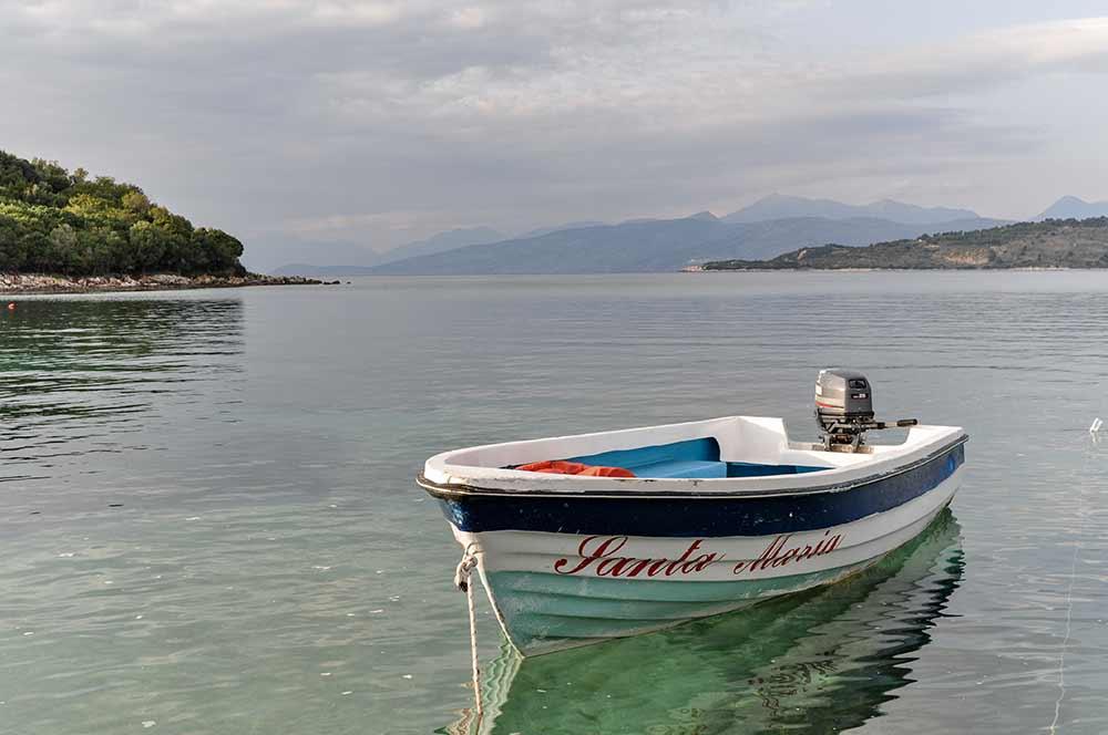 Die Albanische Riviera bei Ksamil