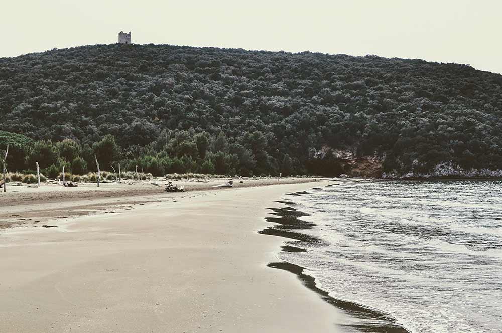 Maremma-Bucht mit altem Turm