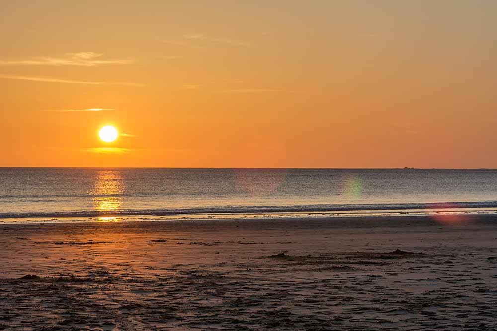 Sonnenuntergang in der Normandie