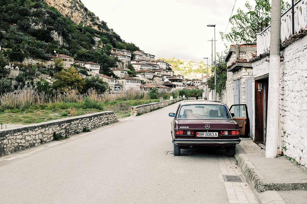 Straße in Berat