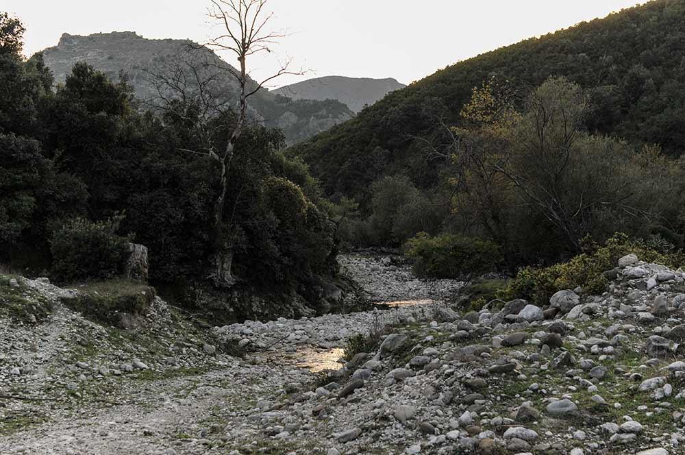 Tal bei Qeparo an der Albanischen Riviera
