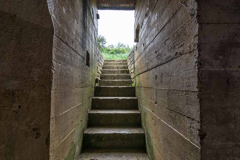 Treppe im Bunker
