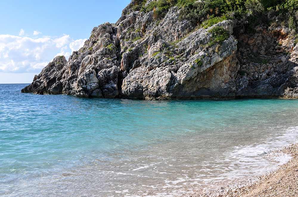 Auf dem Weg zur Grama-Bucht an der Albanischen Riviera