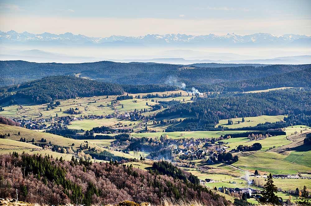 Einer der besten Aussichtspunkte im Schwarzwald ist das Herzogenhorn