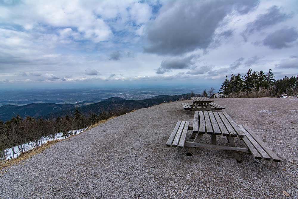 Aussicht vom Gipfel der Hornisgrinde im Nordschwarzwald