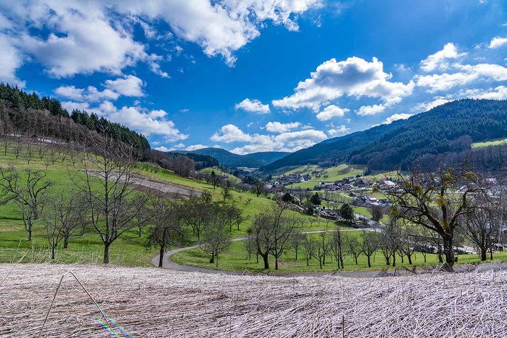 Auf dem Bild siehst du den Ausgangspunkt der beschriebenen Wanderung von Seebach aus zur Hornisgrinde.