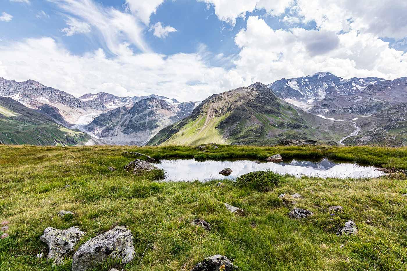 Berge im Bundesland Tirol von Österreich