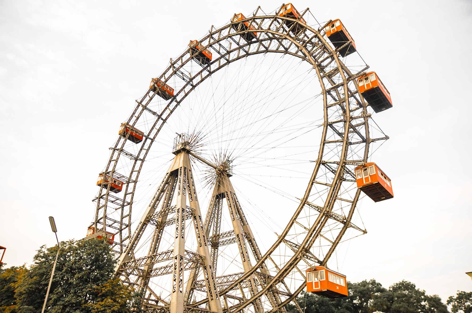 Im Bild: Das Prater-Riesenrad im österreichischen Bundesland Wien