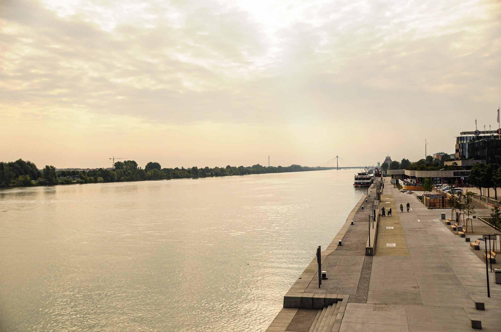 Im Bild ist die Donau im österreichischen Bundesland Wien zu sehen