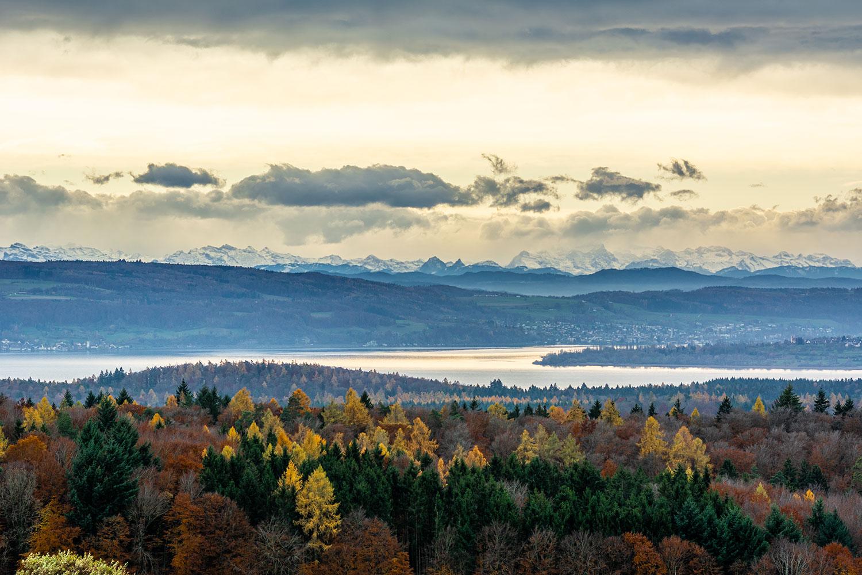 Bild vom Bodensee bei Fönlage - eine der besten Wetterlagen für gute Fernsicht und aufregende Bilder