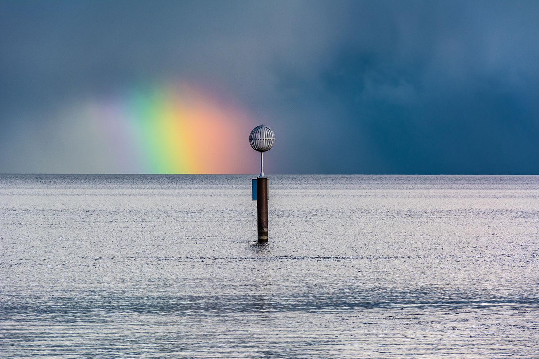 Regenbogen auf Bild am Bodensee