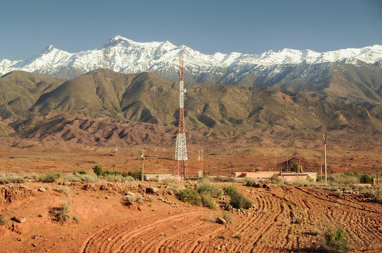 Im Bild: Das Atlas-Gebirge in Marokko.