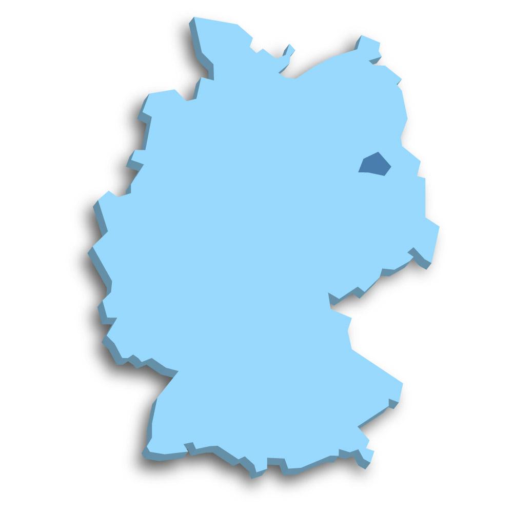 Lage des Bundeslands Berlin in Deutschland