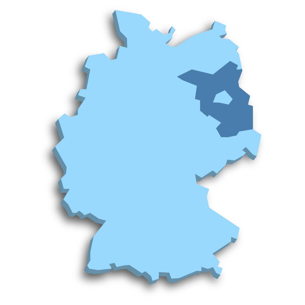 Lage des Bundeslands Brandenburg in Deutschland