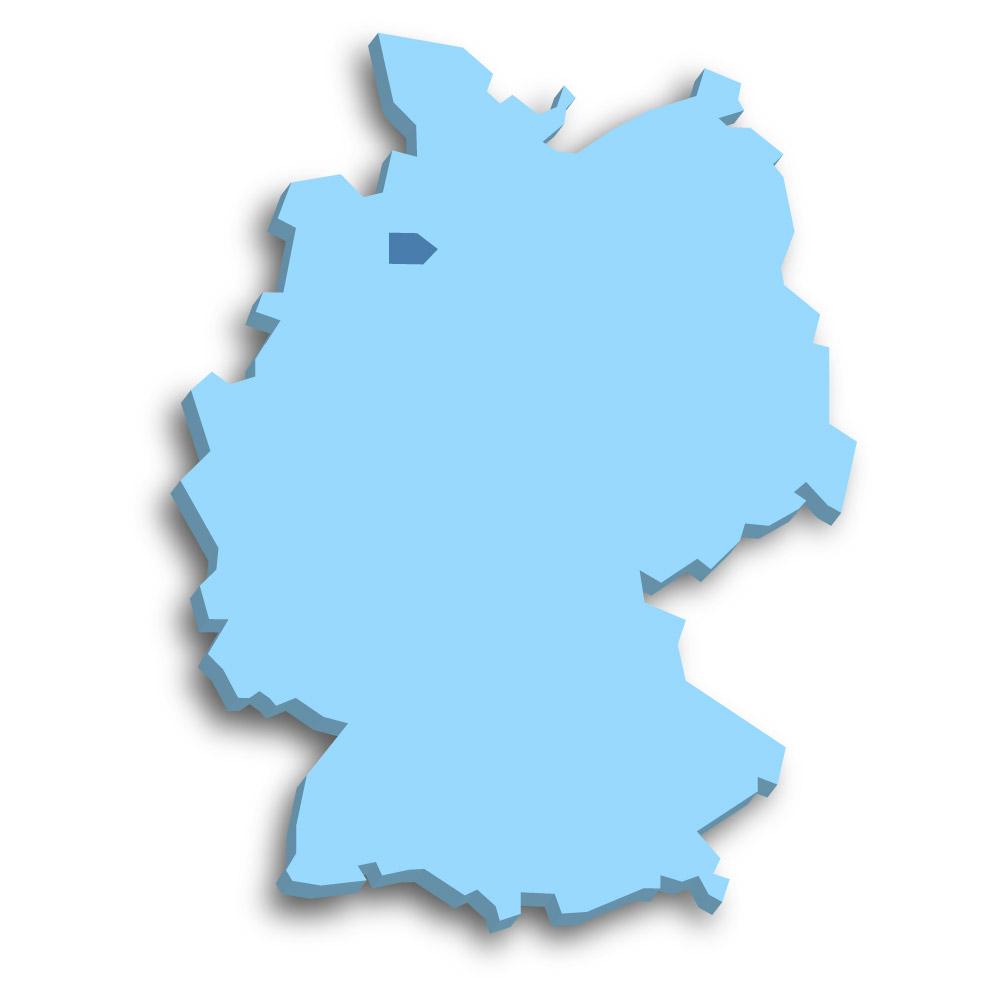 Lage des Bundeslands Bremen in Deutschland