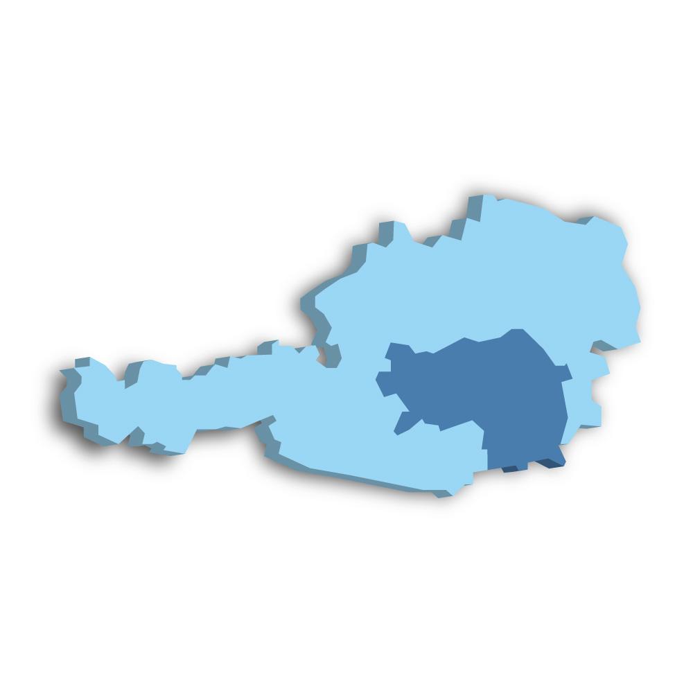 Lage des Bundeslands Steiermark in Österreich