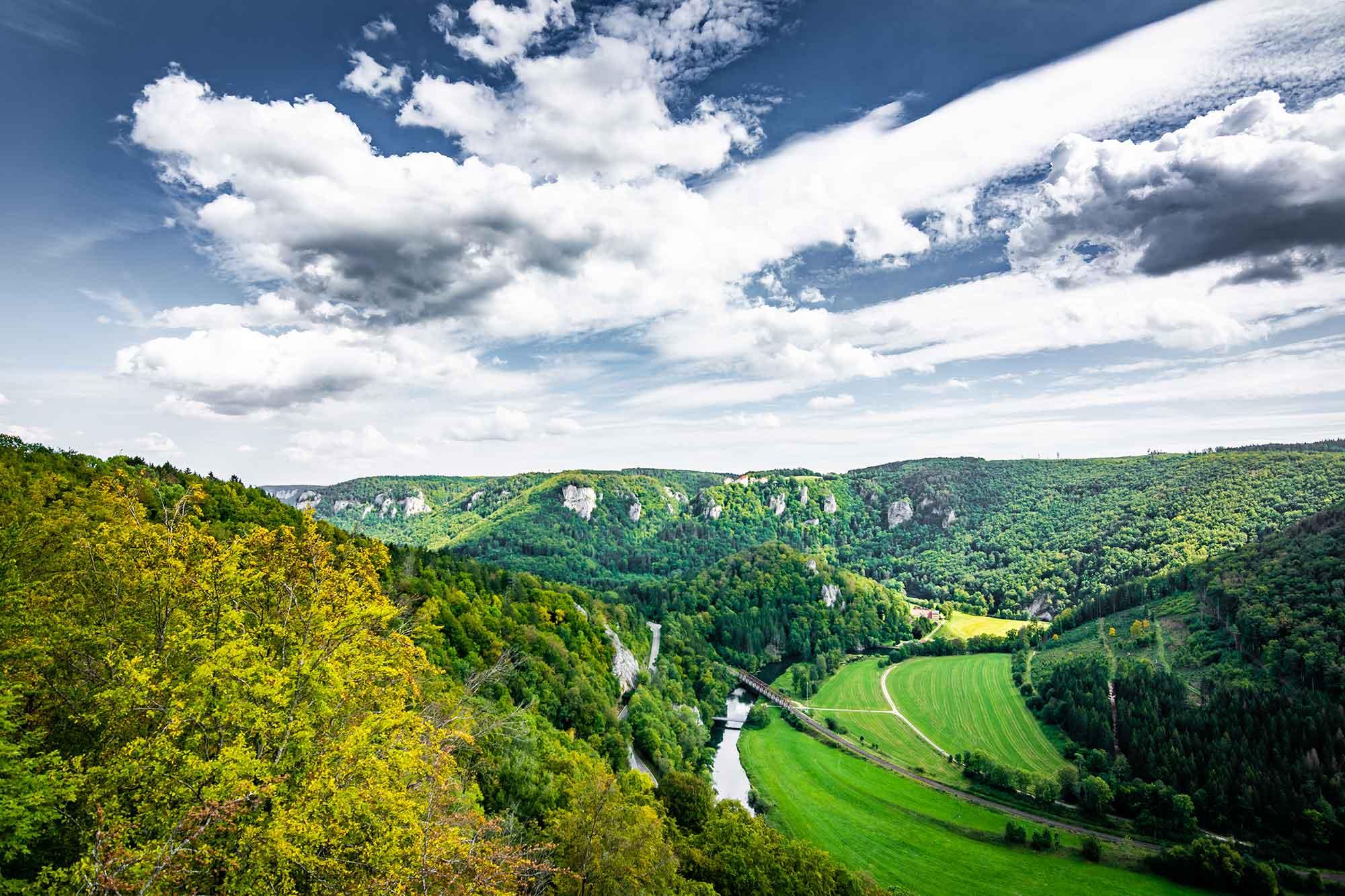 Im Bild ist das obere Donautal in Baden-Württemberg zu sehen