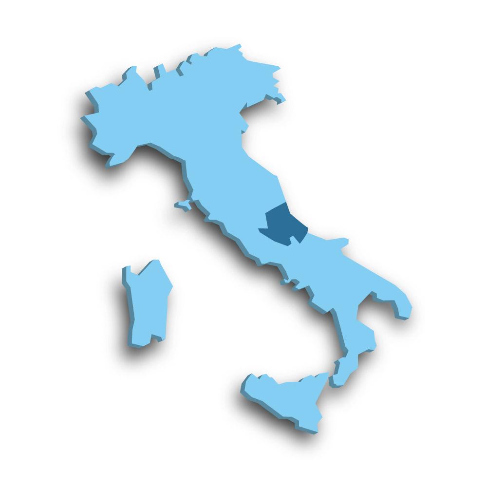 Die Region Abruzzen in Italien