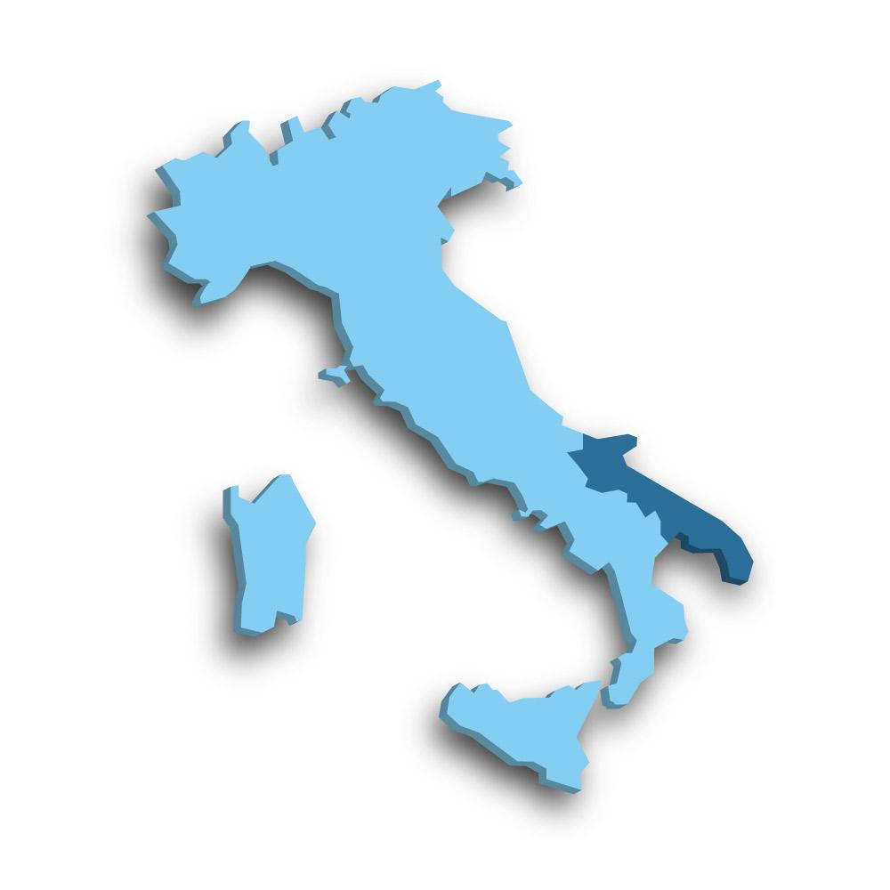Die Region Apulien in Italien