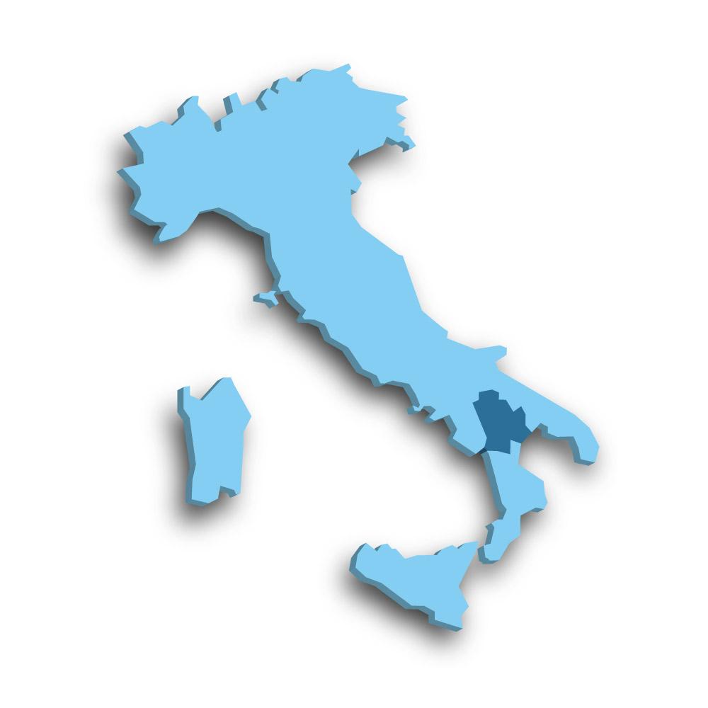 Die Region Basilikata in Italien