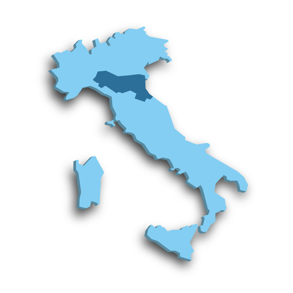 Die Region Emilia-Romagna in Italien