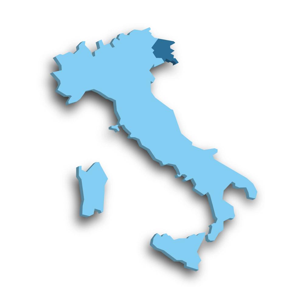 Die Region Friaul-Julisch Venetien in Italien