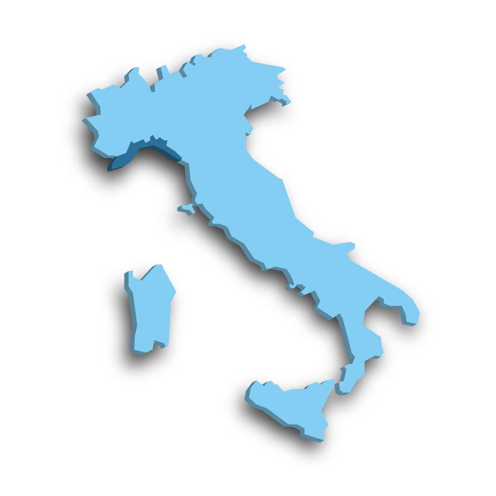 Die Region Ligurien in Italien