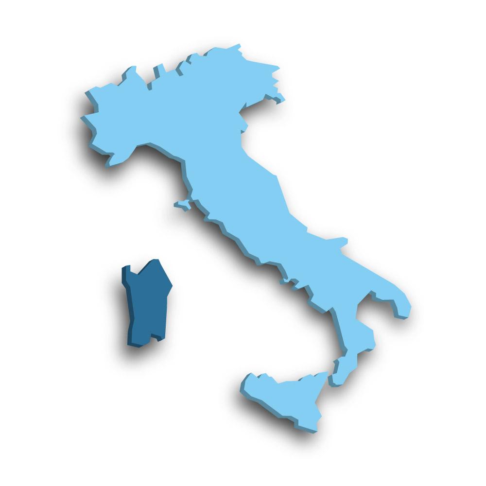 Die Region Sardinien in Italien