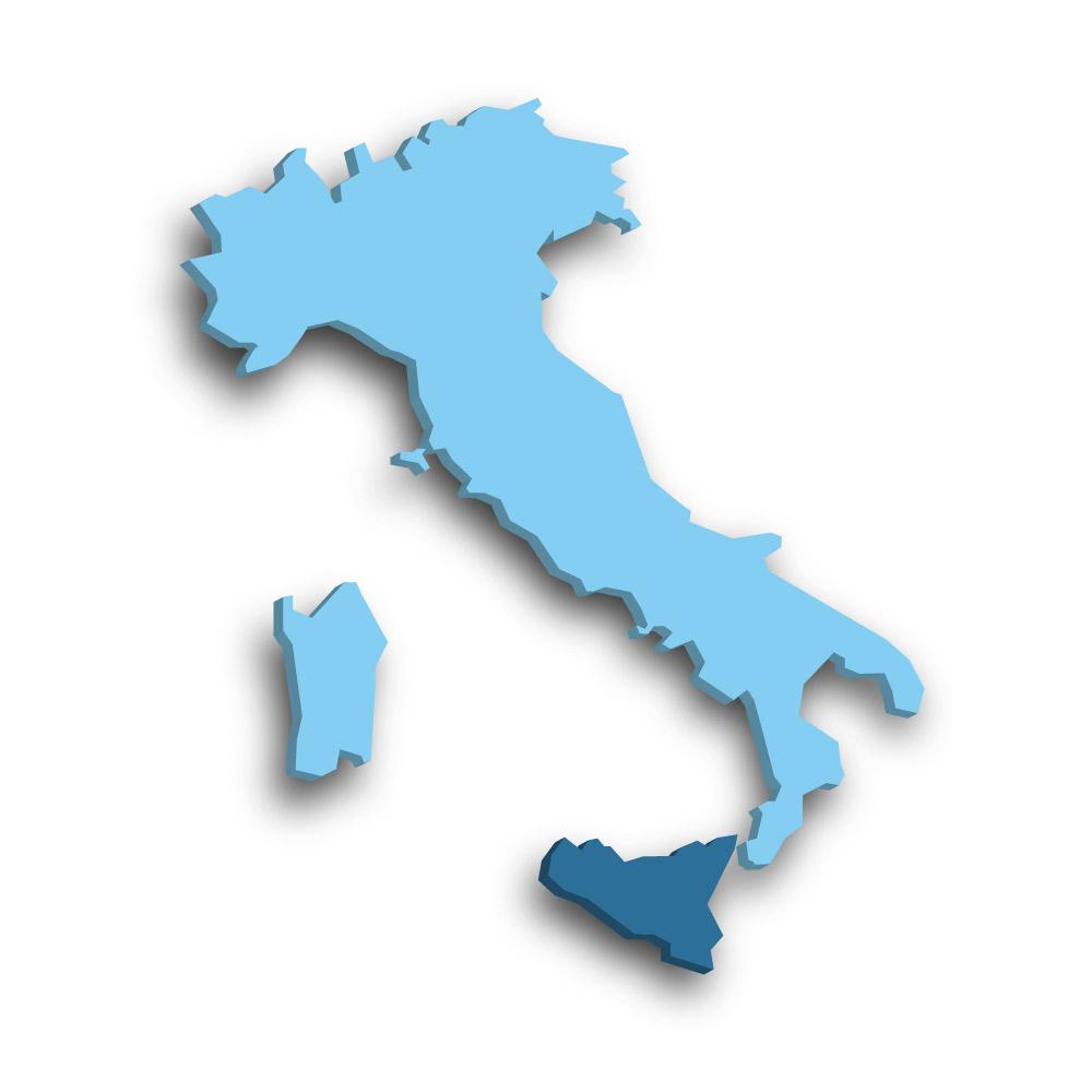 Die Region Sizilien in Italien