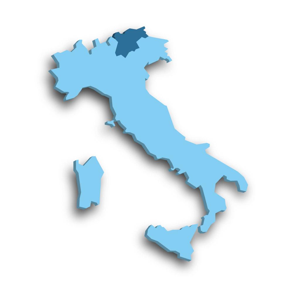 Die Region Trentino-Südtirol in Italien