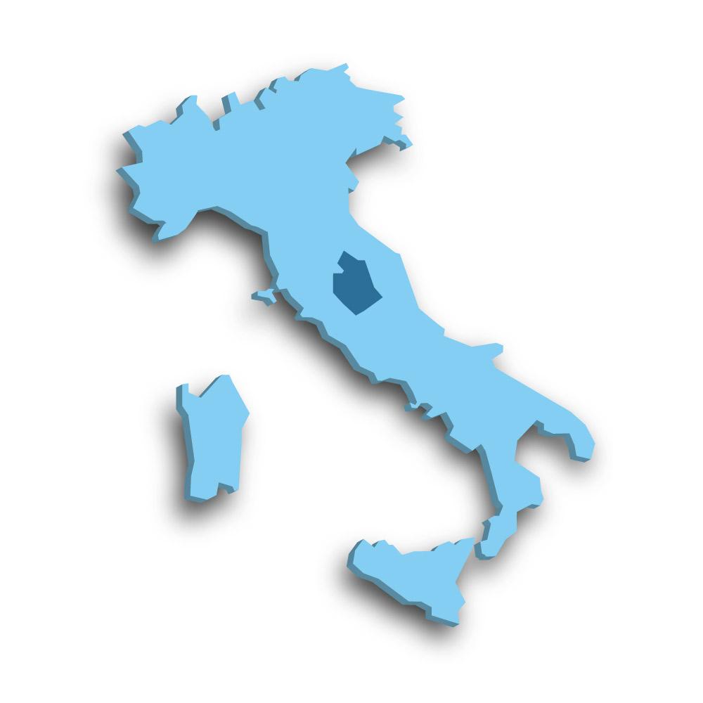 Die Region Umbrien in Italien