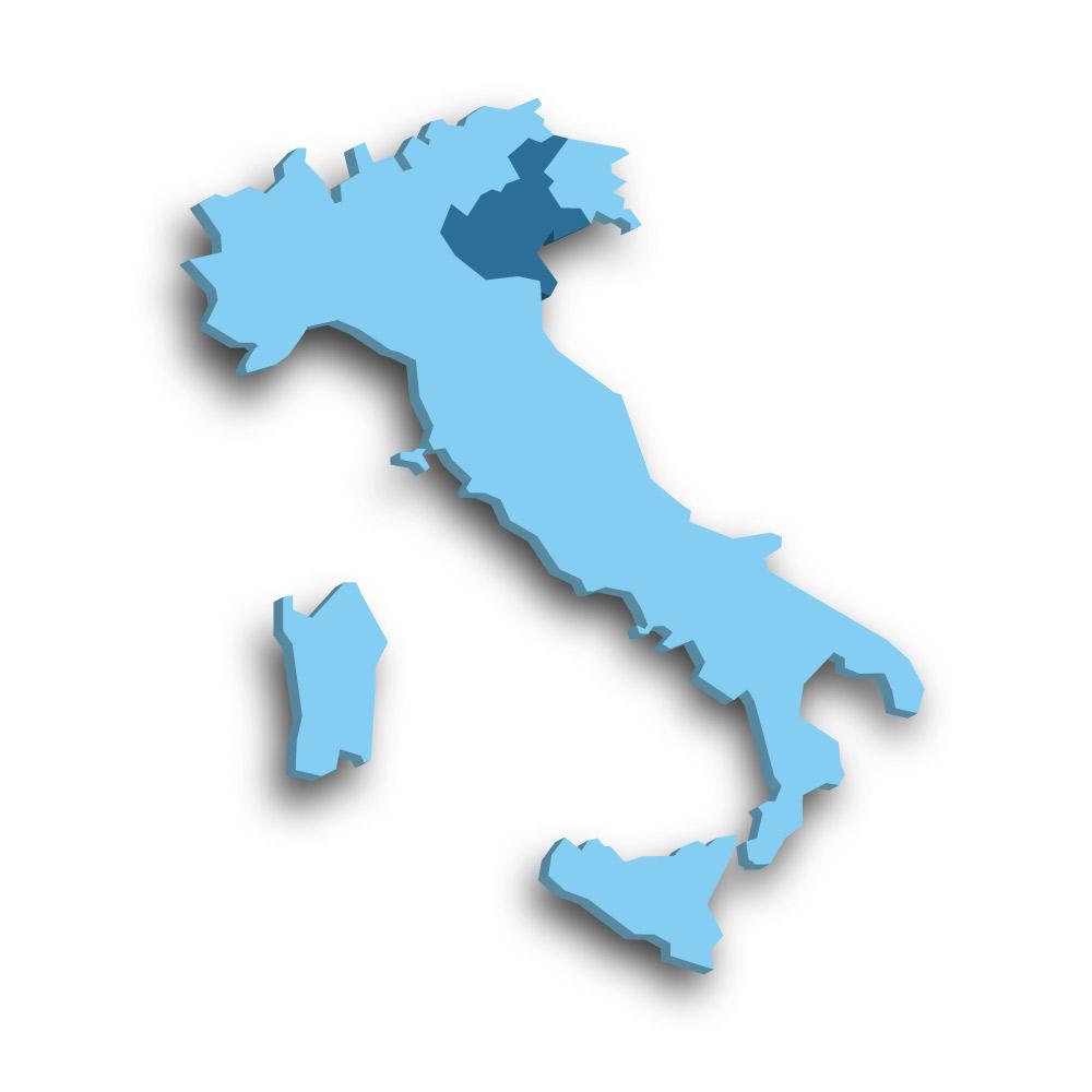 Die Region Venetien in Italien