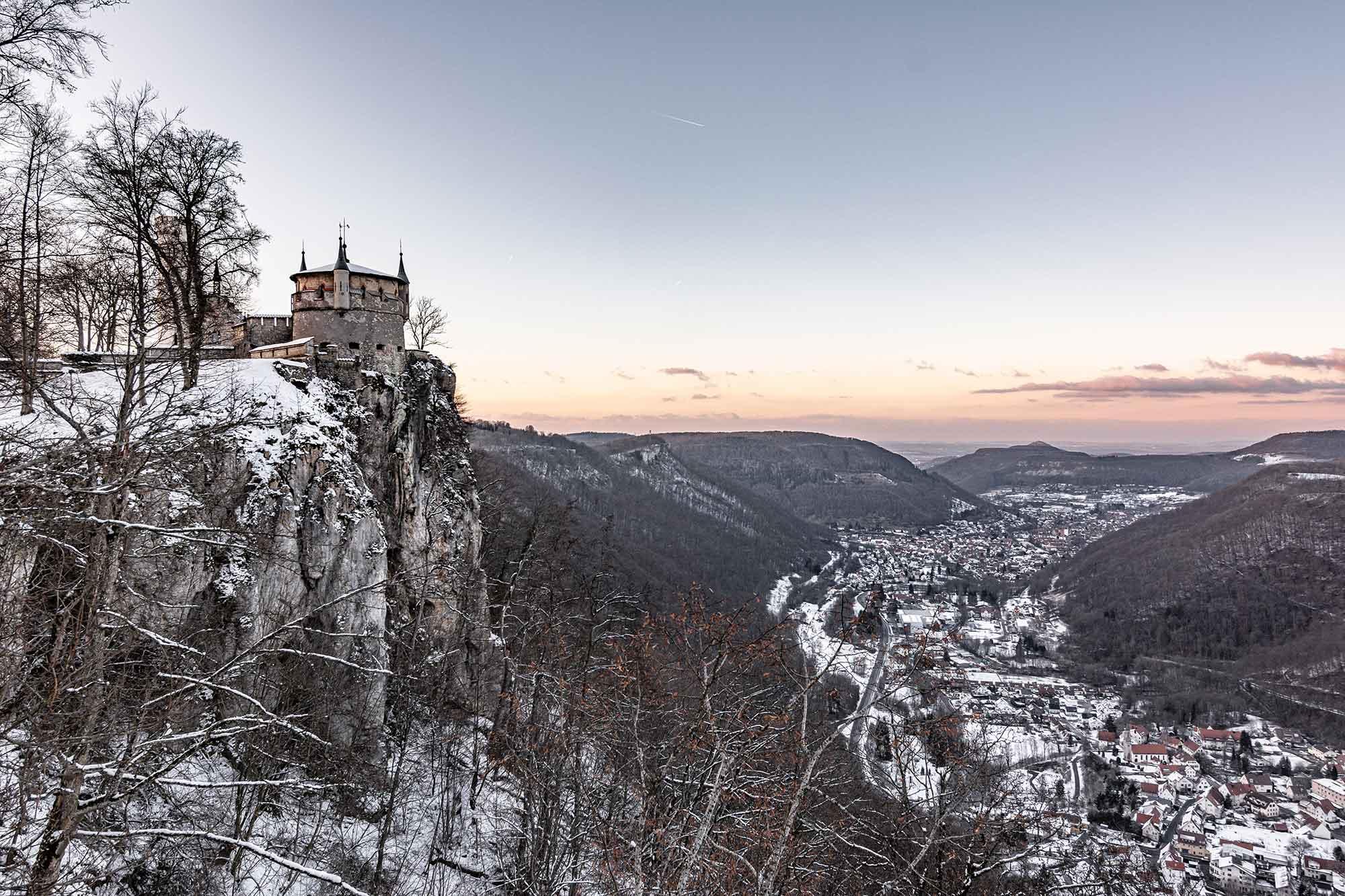 Im Bild ist ein Teil von Schloss Lichtenstein in Baden-Württemberg zu sehen