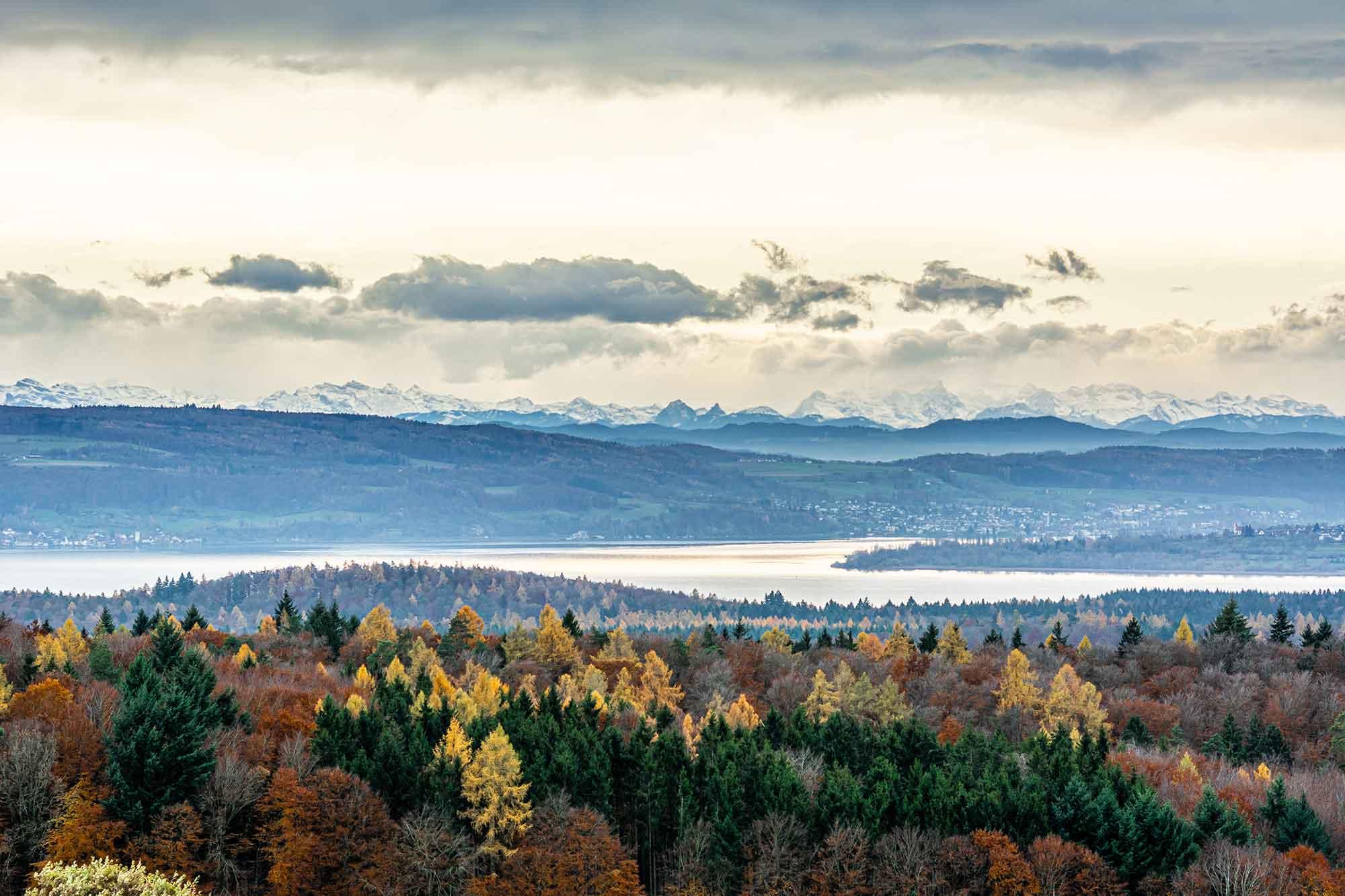 Im Bild ist die Aussicht vom Bodanrück zu sehen - einer der schönsten Orte von Baden-Württemberg
