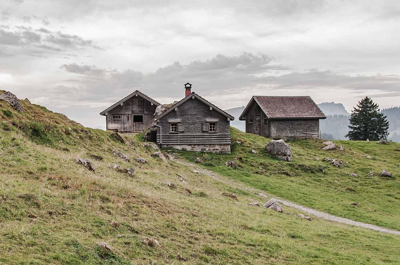 Die Schwägalp im Kanton Appenzell Ausserrhoden im Osten der Schweiz