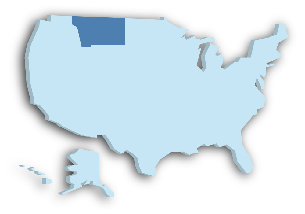 Staat Montana - Das Bild zeigt die Lage in den USA