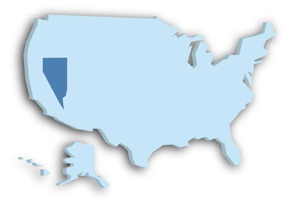 Staat Nevada - Das Bild zeigt die Lage in den USA