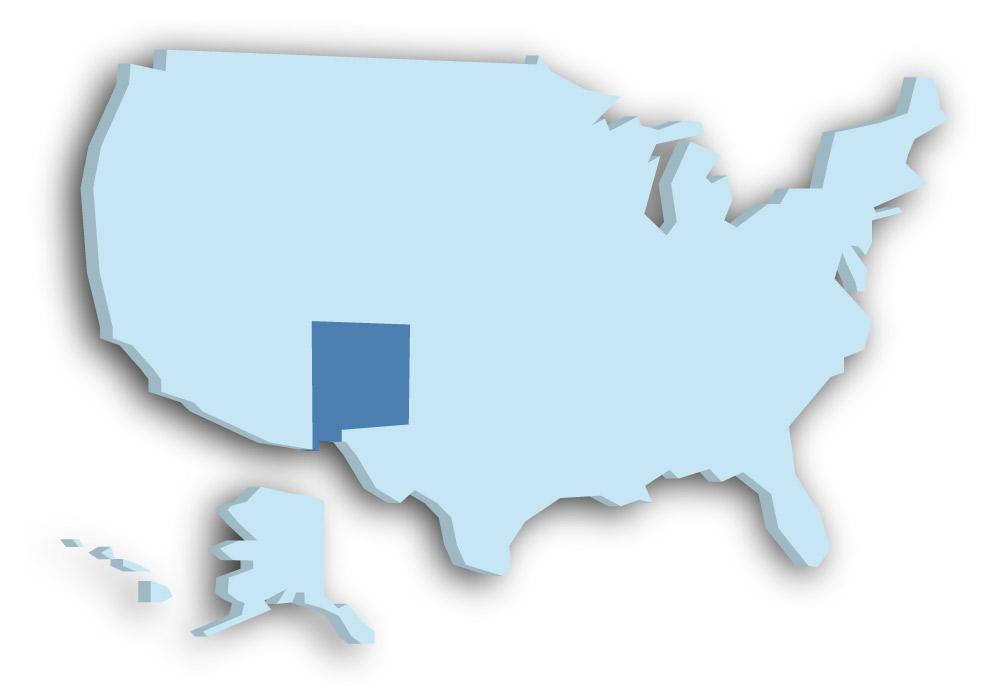 Staat New Mexico - Das Bild zeigt die Lage in den USA