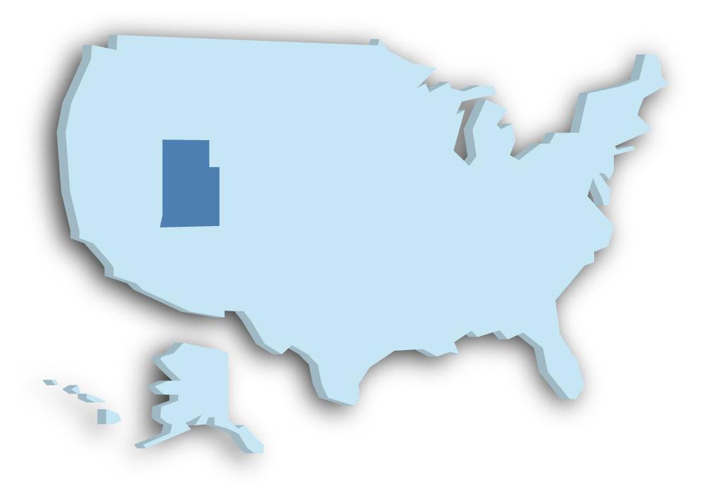 Staat Utah - Das Bild zeigt die Lage in den USA