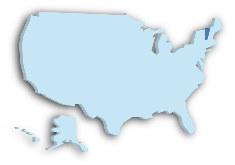 Staat Vermont - Das Bild zeigt die Lage in den USA