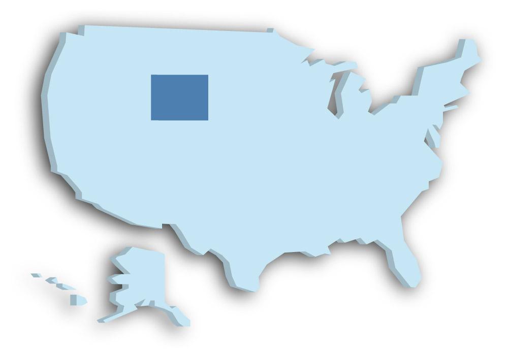 Staat Wyoming - Das Bild zeigt die Lage in den USA