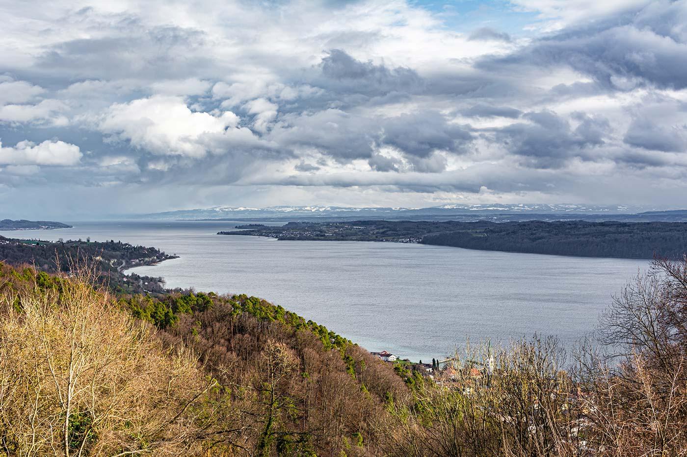 Der Haldenhof ist einer der bekanntesten Aussichtspunkte des Bodensees