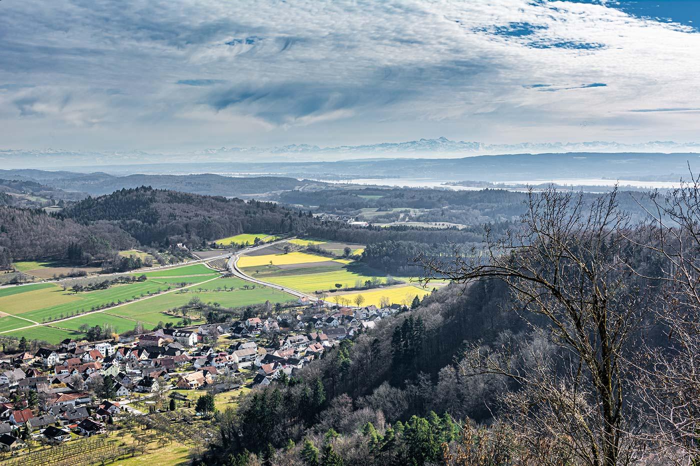 Aussicht vom Aussichtspunkt auf der Burg Homburg